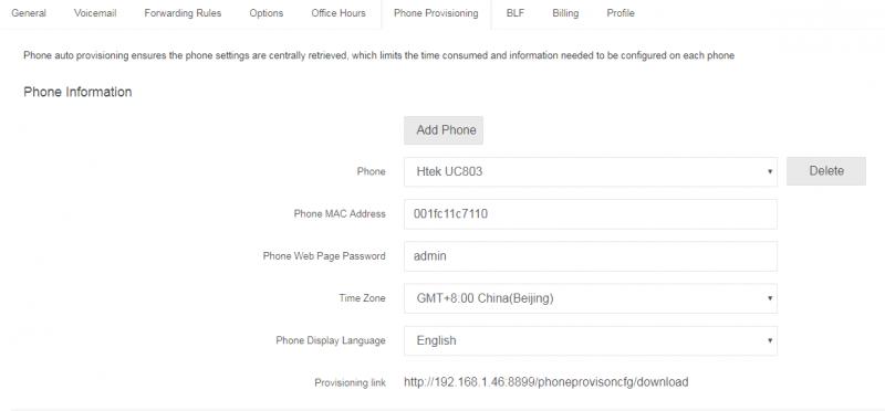 Auto provisioning Htek into PortSIP PBX