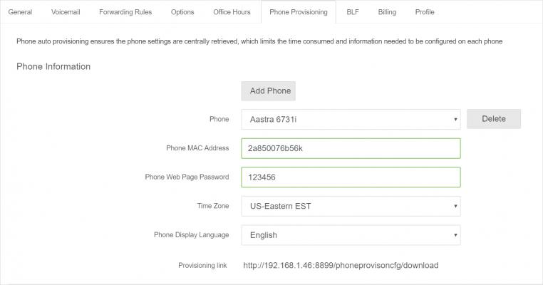 Add Aastra IP Phone into PortSIP PBX