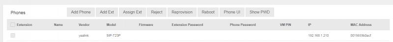 Auto provisioning yealink IP Phone into PortSIP PBX